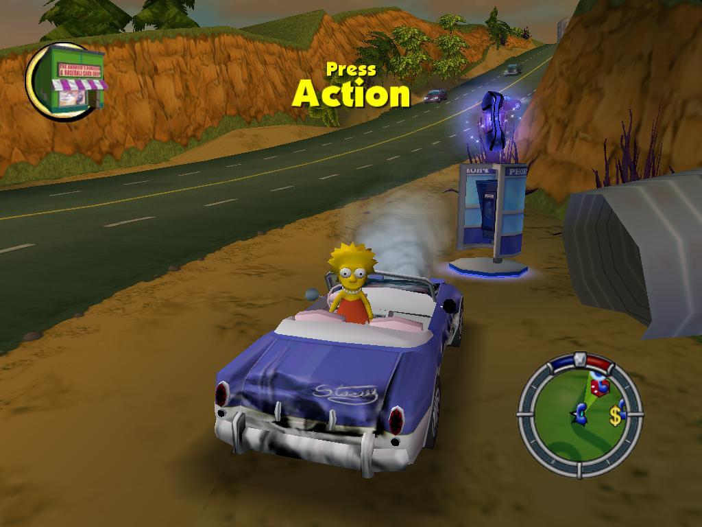 Simpsons Hit And Run Level  Secret Car