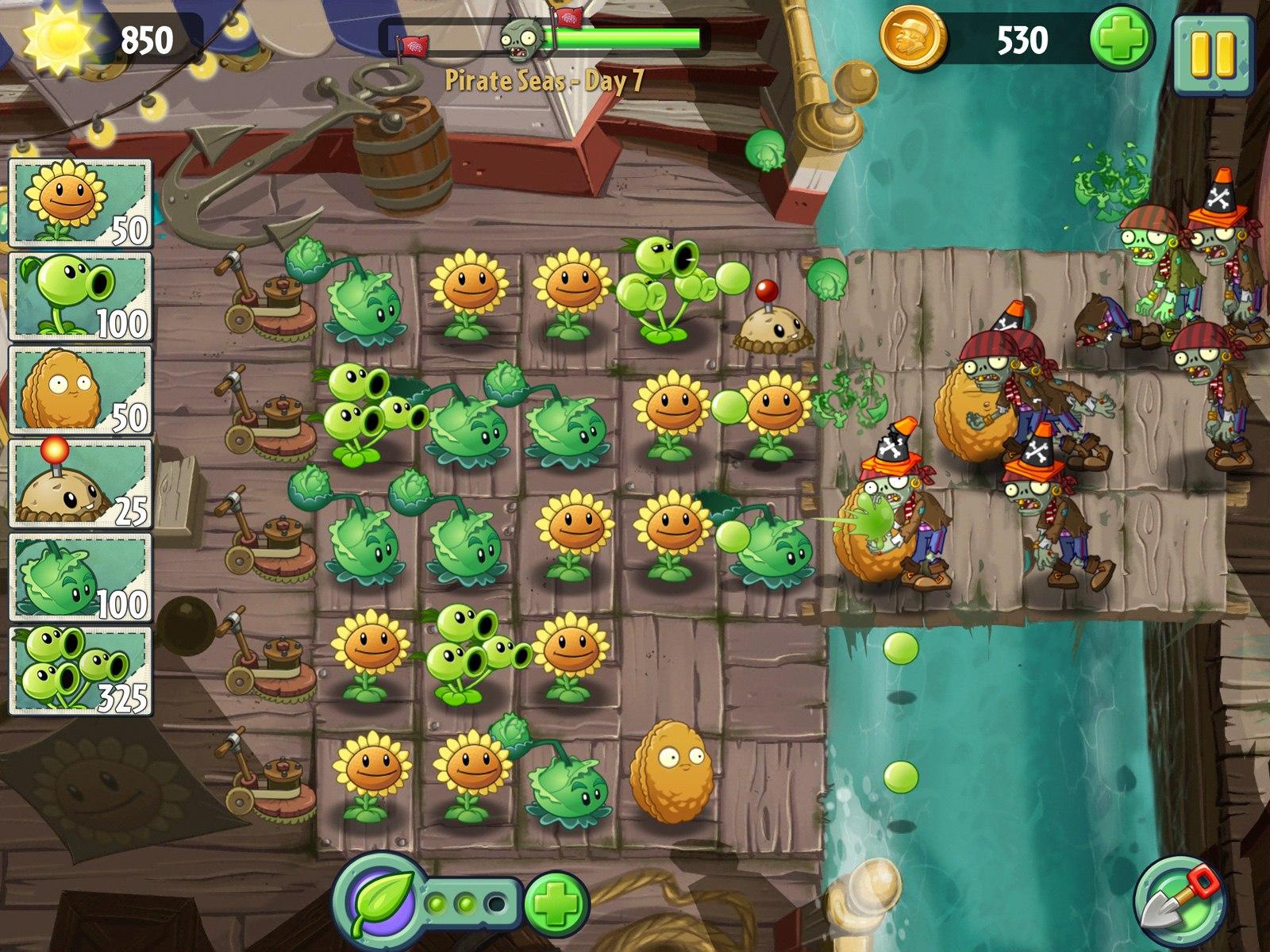 Скачать игру plants. Vs. Zombies.